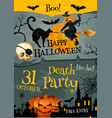 halloween party poster for holiday night vector image vector image