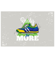 Hipster graffiti sneakers on abstract triangle vector image vector image