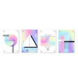 holographic shapes posters trendy gradients vector image vector image