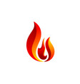 hot fire flame logo symbol icon design vector image