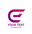 initial letter e logo template colorful design vector image vector image