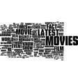 latest movies what you need to know guide text vector image vector image