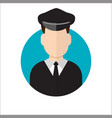 limo driver limousine driver icon vector image vector image