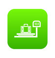 luggage weighing icon digital green vector image