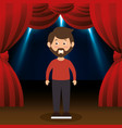 man avatar in theater vector image vector image