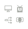 media outline icons set vector image vector image