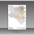 minimal covers set future geometric design vector image vector image