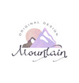 mountain original design logo tourism hiking and vector image vector image