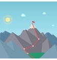 Mountaineering Route Goal Achievement Concept vector image vector image