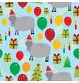 New year christmas seamless pattern on a blue vector image vector image