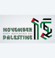 november 15 palestine independence day vector image vector image