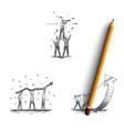 office teamwork - business people in teams vector image vector image