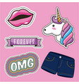 patch fashion denim vector image vector image