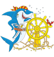 Pirate Shark vector image