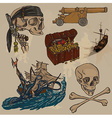 pirates - an hand drawn colored pack no3 vector image vector image