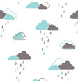rainy clouds seamless pattern vector image vector image