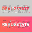 real estate word cloud collage business vector image