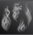 realistic smoke on transparent background vector image