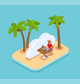 remote working concept vector image vector image