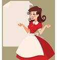 retro cartoon woman vector image vector image