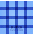 Retro textile background with blue stripes vector image