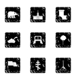 Russia icons set grunge style vector image vector image