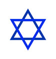 sacred symbol star of david shield of david vector image