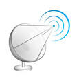 satellite dish receives a signal vector image vector image