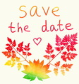 Save the date card Watercolor rainbow vector image vector image