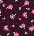 seamless pattern with roses on a background vector image