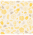 seamless pattern yellow vector image vector image