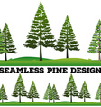 Seamless pine trees on the field vector image vector image