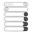 search bar element design set of search boxes vector image vector image