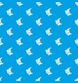 sleeping moon pattern seamless blue vector image