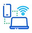 smartphone and laptop wi-fi connection icon vector image