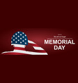 soldier saluting the usa flag for memorial day vector image