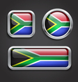 South Africa flag glass buttons vector image
