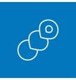 Spiral bread line icon vector image vector image