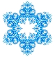 Star snowflake in gzhel style vector image vector image