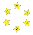 Stars emoticons vector image