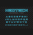 technology glowing font fast sport futuristic vector image vector image