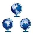 Three globe on a white background vector image vector image