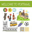 welcome to portugal promo banner with national vector image vector image