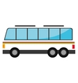 White bus with red and green stripes vector image vector image