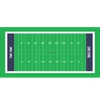 American football field top view vector image