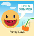 hello summer - sunny days vector image