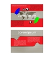 Infographic brochure with a map of the world and vector image