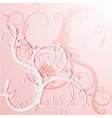 Elegant lace card or invitation vector image
