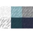 Feathers Bird seamless pattern set Retro doodle vector image