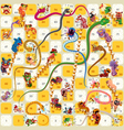 Snake and Ladder BoardGame Chinese New Year vector image